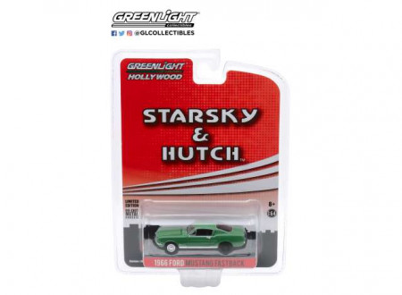 GREENLIGHT 1:64 - FORD MUSTANG FASTBACK 1966 *HOLLYWOOD SPECIAL EDITION STARSKY AND HUTCH TV SERIES 1975-79*, GR
