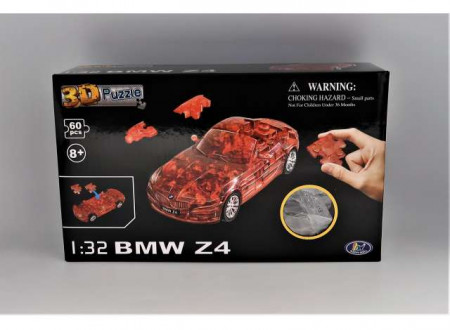 HAPPY WELL 1:32 - BMW Z4 3D PUZZLE 60PCS, CLEAR RED