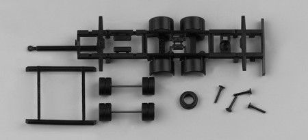 HERPA 1:87 - Chassis for bulk tandem volume trailer swap body 2-axle (7,82m) Content: 2 pcs.