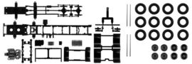 HERPA 1:87 - Chassis for Mercedes-Benz 4-axle LKW Content: 2 pcs.