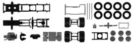 HERPA 1:87 - Chassis for Scania CS/CR 6x2 with chassis cladding Content: 2 pcs.