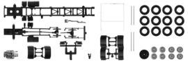 HERPA 1:87 - Chassis Scania R 4-achs LKW with U-protector (Content: 2 pieces)