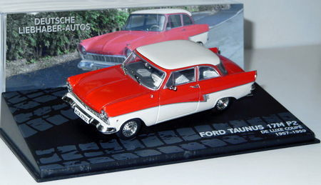 MAGAZINE MODELS 1:43 - FORD TAUNUS 17M P2 DELUXE COUPE 57/59- RED