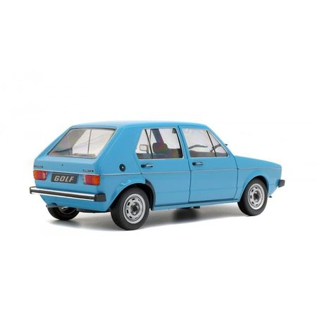 SOLIDO 1:18 - VW GOLF L 1983 BLEU MIAMI