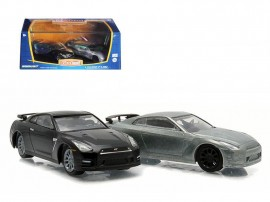 GREENLIGHT 1:64 - NISSAN SKYLINE GT-R R35 2007-14 *FIRSTCUT SERIES* 2-PACK. ONE FIRSTCUT CAR AND ONE DECORATED CAR.