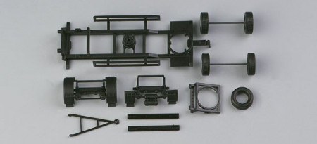 HERPA 1:87 - chassis for trailer with a set of wheels(7,45m) Content: 2 pcs.