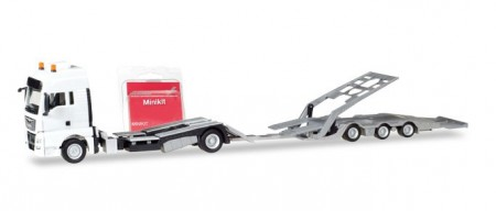 HERPA 1:87 (Minikit) - MAN TGX XXL truck-transport-Trailer, white