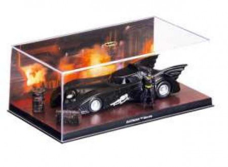 MAGAZINE MODELS 1:43 - BATMAN BATMOBILE 1989 BATMAN MOVIE, BLACK