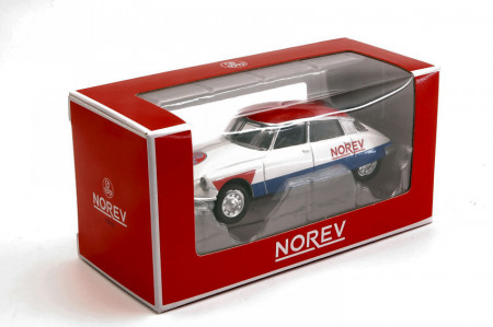 """NOREV 1:64 - CITROEN DS 19 1958 """"CYCLISTE - BLUE WHITE RED"""""""