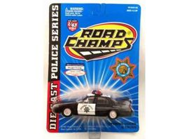 ROAD CHAMPS 1:43 - FORD CROWN VICTORIA 1998 *HIGHWAY PATROL*, BLACK/WHITE
