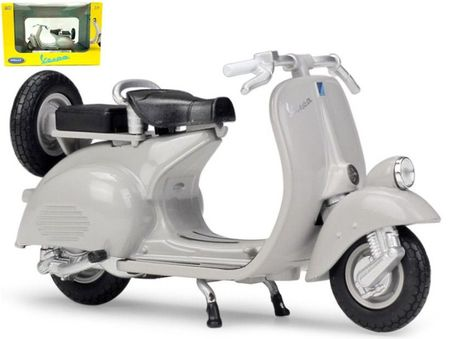 WELLY 1:18 - VESPA 124CC 1953, LIGHT GREY