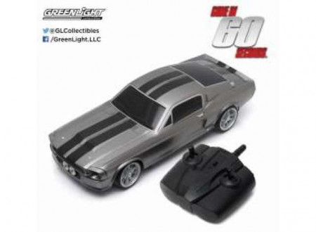 GREENLIGHT 1:18 - FORD MUSTANG SHELBY GT500 1967 *GONE IN SIXTY SECONDS (2000) ELEANOR*. FULL FUNCTION RADIO CONTROL