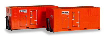 HERPA 1:87 - ACCESSORY 2 X 20 FT. POWER UNIT 'BOELS'
