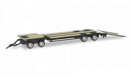 HERPA 1:87 - Goldhofer TU 4 construction site trailer, anthracite grey