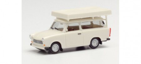 HERPA 1:87 - Trabant 601 Universal with roof tent, pearl white