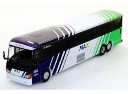 ICONIC REPLICAS 1:87 - MCI D4505 MOTORCOACH 'MAX', WHITE/BLUE/GREEN