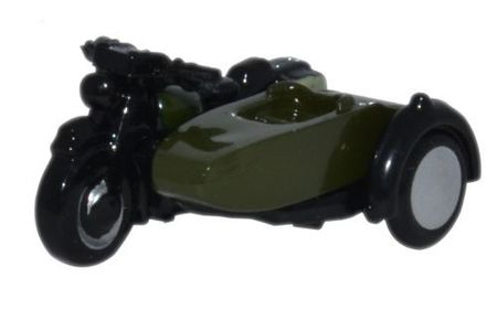 OXFORD 1:148 - MOTORCYCLE AND SIDECAR 34TH ARMOURED BRIGA