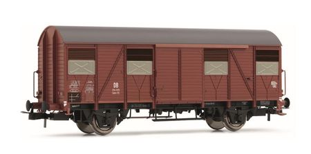 Rivarossi HO (1:87) - DB, Gmhs 55, closed wagon, epoch III with open shutters