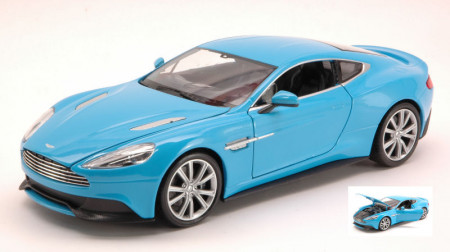 WELLY 1:24 - ASTON MARTIN VANQUISH 2012 LIGHT BLUE