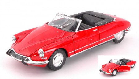WELLY 1:24 - CITROEN DS 19 1956 CABRIO OPEN RED