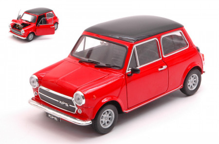 WELLY 1:24 - MINI COOPER 1300 RED W/BLACK ROOF