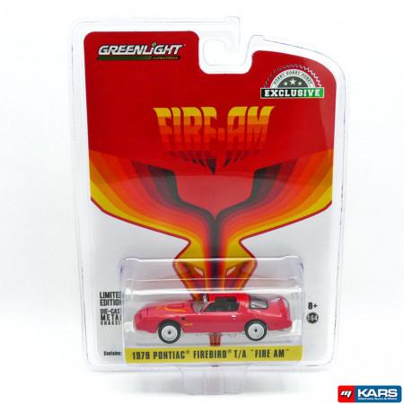 GREENLIGHT 1:64 - PONTIAC FIREBIRD 1979 *FIRE AM* BY VERY SPECIAL EQUIPMENT (VSE), RED WITH HOOD BIRD