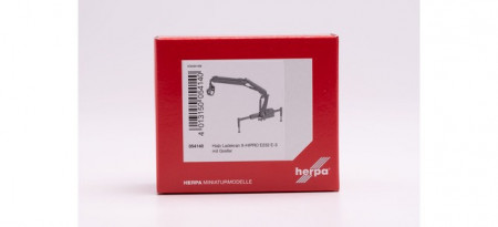 HERPA 1:87 - Hiab X-HIPRO 232-E3 loading crane with grab, red
