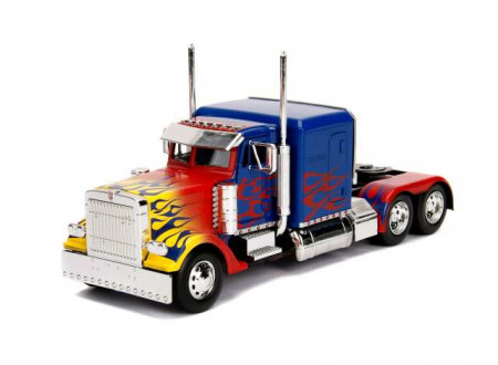 JADA 1:24 - WESTERN STAR TRANSFORMERS T1 OPTIMUS PRIME, BLUE WITH FLAMES