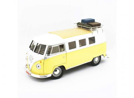LUCKY DIECAST 1:18 - VOLKSWAGEN T1 BUS 1962 *CAMPING VERSION*, YELLOW/WHITE