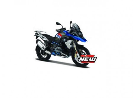 MAISTO 1:18 - BMW R 1200 GS 2017 , BLUE/GREY
