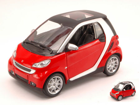 NEW RAY 1:24 - SMART FORTWO II SERIE 2007 RED