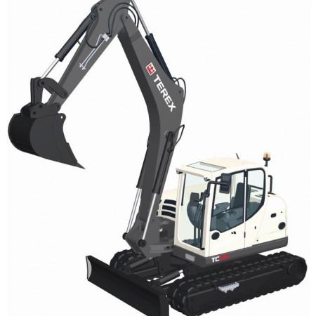 NZG 1:50 - Terex Tc125, Midi Crawler Excavator