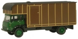 OXFORD 1:76 - BEDFORD BEDTK HORSEBOX, GREEN/BROWN