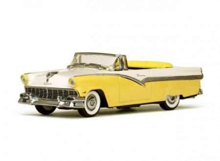 VITESSE 1:43 - FORD FAIRLANE 1956 OPEN CONVERTIBLE, GOLDENGLOW YELLOW/COLONIAL WHITE