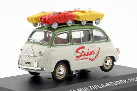 ATLAS 1:43 - FIAT 600 MULTIPLA-STUDER 1959, GREEN/WHITE