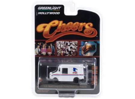 GREENLIGHT 1:64 - CLIFF CLAVIN'S U.S. MAIL LONG-LIFE POSTAL DELIVERY VEHICLE (CHEERS 1982-93 TV SERIES) *HOLLYWOOD SERIE