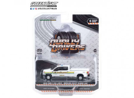 GREENLIGHT 1:64 - FORD F-350 2018 DUALLY BROWARD COUNTY, FLORIDA SHERIFF'S OFFICE MARINE UNIT *DUALLY DRIVERS SERIES 6