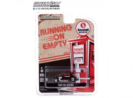 GREENLIGHT 1:64 - TOPO FUEL ALTERED KENDALL MOTOR OIL *RUNNING ON EMPTY SERIES 12*, BLACK/RED