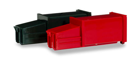 HERPA 1:87 - ACCESSORIES 2 GARBAGE CONTAINER, GREEN AND RED