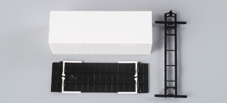 HERPA 1:87 - interchangeable curtain canvas with base plate (7,45m) Content: 2 pcs.