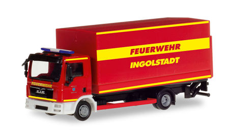 HERPA 1:87 - MAN TGL CANVAS TRUCK WITH LIFTGATE 'INGOLSTADT FIRE DEPARTMENT'