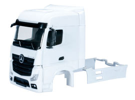 HERPA 1:87 - Mercedes-Benz Actros Bigspace driver's cabin with side skirting (incl. rear-view mirror) grill comes separately Content: 2 pcs.