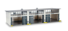 HERPA 1:87 - Military: Building set 3-stall repair facility, length 335 mm x width 150 mm x height 85 mm