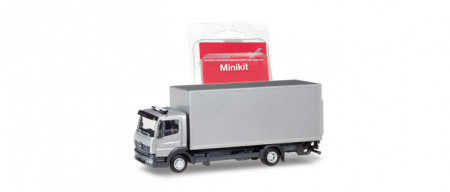 HERPA (MINIKIT) 1:87 - Mercedes-Benz Atego box truck with liftgate, silver
