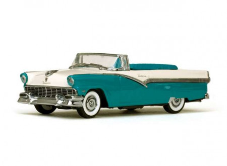 VITESSE 1:43 - FORD FAIRLANE 1956 OPEN CONVERTIBLE, PEACOCK BLUE/ COLONIAL WHITE