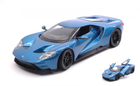 WELLY 1:24 - FORD GT 2017 METALLIC BLUE