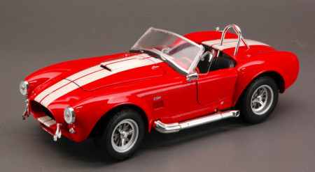 WELLY 1:24 - SHELBY COBRA 427 SC 1965 RED/WHITE