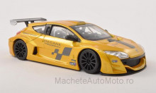 BBURAGO 1:24 - RENAULT MEGANE TROPHY, METALLIC-GELB/DECORATED