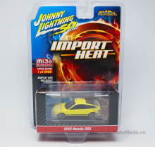 JOHNNY LIGHTNING 1:64 - HONDA CRX, YELLOW
