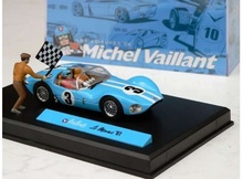 MAGAZINE MODELS 1:43 - LE MANS 1961 #3 'MICHEL VAILLANT SERIES', LIGHT BLUE/WHITE